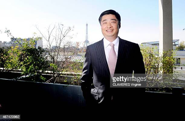 The Chinese businessman Ken Hu Ceo of Huawei is photographed for Paris Match in Paris on March 12 2015