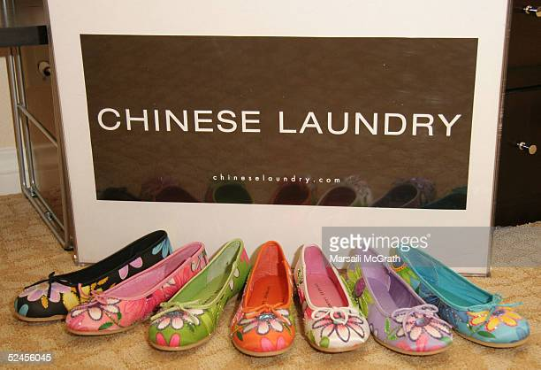 The Chinese Laundry counter at the Mercedes Benz Fashion Week Suites at the Beverly Hilton on March 19 2005 in Beverly Hills California