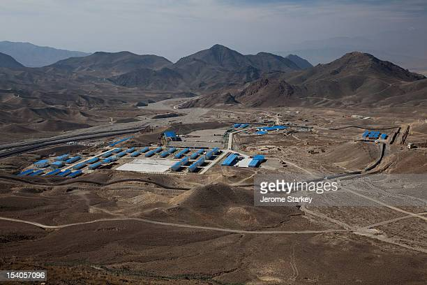 The Chinese Metallurgical Corporation camp at Mes Aynak in Logar province Afghanistan to house workers at one of the world's largest known copper...