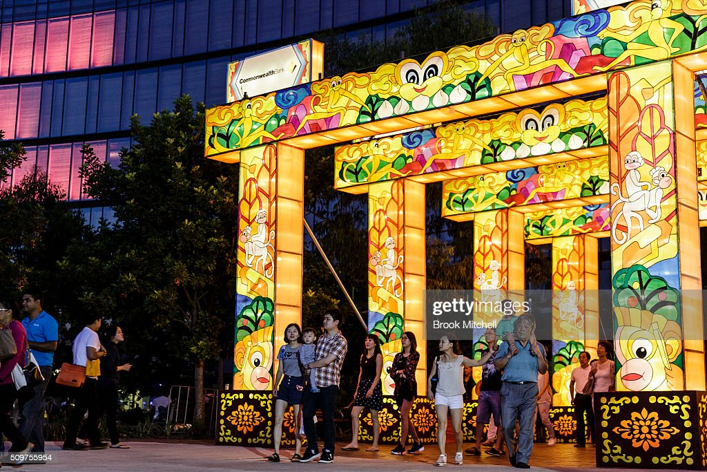 The Chinese New Year Lantern Festival at Tumbalong Park on February 12, 2016 in Sydney, Australia. The lighting of lanterns is a centuries old tradition that marks the end of the Chinese New Year Festival.