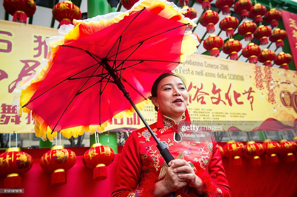 The Chinese New Year's Parade to celebrate the Year of the Monkey on February 14, 2016 in Milan, Italy.