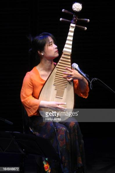 The Chinese pipa player Wu Man and her friends performing at Zankel Hall on Thursday night April 6 2006This imageWu Man on pipa performing 'Shi Mian...
