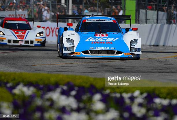 The Chip Ganassi Racing Riley DP Ford EcoBoost of Scott Pruett and Memo Rojas of Mexico during the Tudor United Sports Car Championship Series...