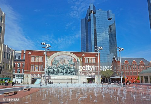 The Chisholm trail wall mural in Fort Worth