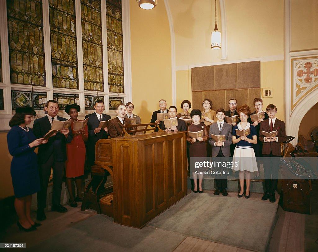 The choir at Annunciation Church sings