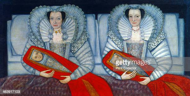 'The Cholmondeley Sisters' 16001610 Double portrait of the sisters sitting in bed each holding a baby From the Tate Gallery London