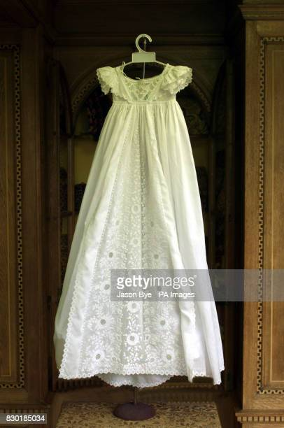 The christening gown which was worn by the late Diana Princess of Wales The borrowed 19th century christening gown which was being stored by Norfolk...