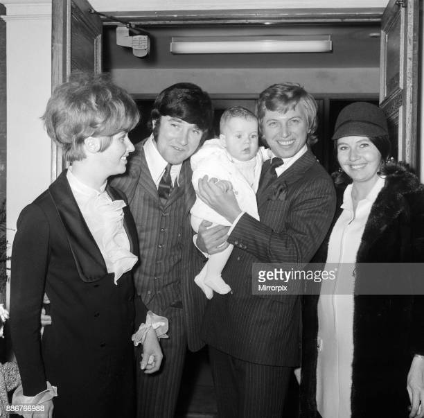 The Christening of sixmonthold James Thomas Tarbuck son of comedian Jimmy Tarbuck at St Anne's Church Kingston Hill Parents Pauline and Jimmy Tarbuck...