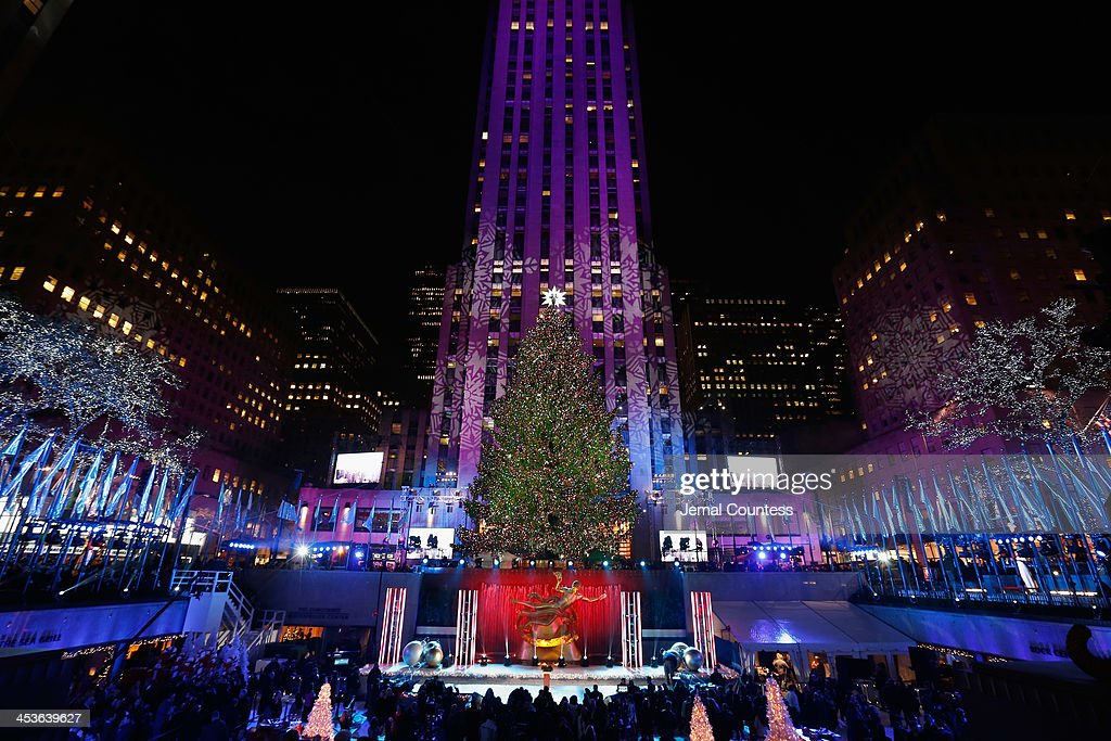 The Christmas Tree is lit during 81st Annual Rockefeller Center Christmas Tree Lighting Ceremony at Rockefeller Center on December 4, 2013 in New York City.