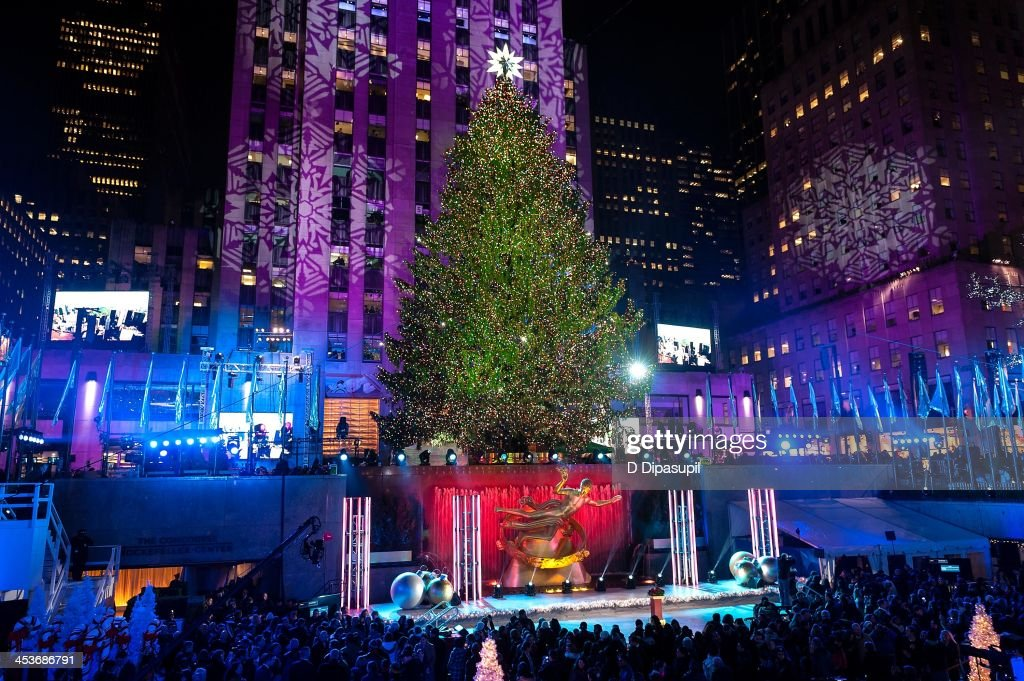 The Christmas Tree is lit during the 81st annual Rockefeller Center Christmas Tree Lighting Ceremony on December 4, 2013 in New York City.