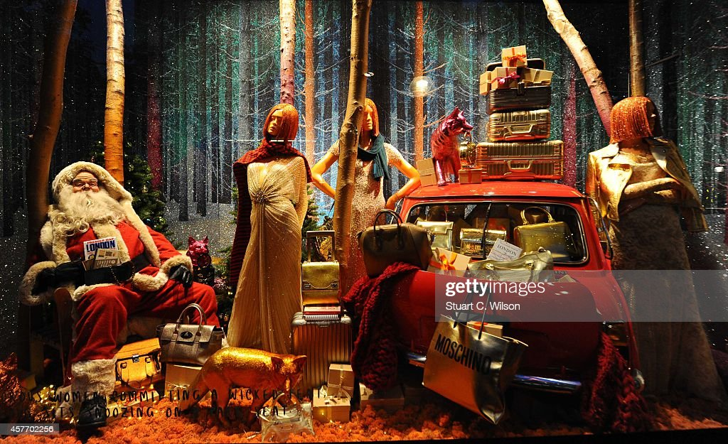 The Christmas windows display is unveiled at Selfridges on October 23 2014 in London England