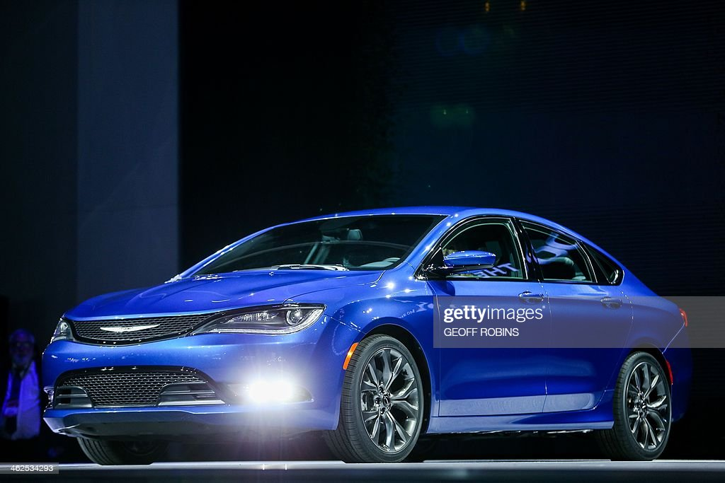 The Chrysler 200s is introduced at the 2014 North American International Auto Show in Detroit Michigan January 13 2014 AFP PHOTO/Geoff Robins