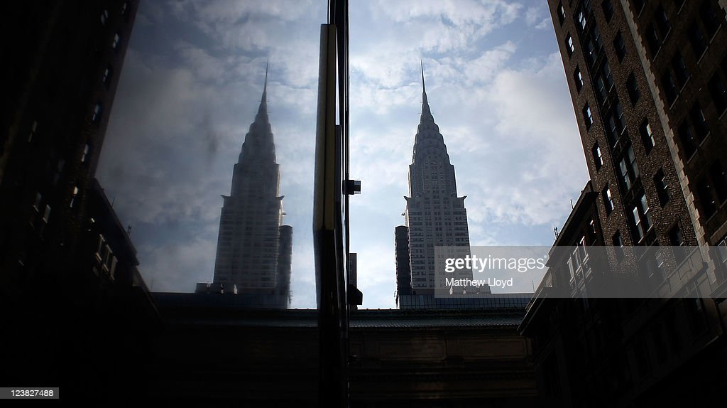 The Chrysler Building is reflected in a marble wall on August 24, 2011 in New York City. New York City, a financial, cultural and tourism centre, has the largest population of any city in the United States.