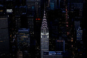 The Chrysler Building is seen from above on December 30 2014 in New York City