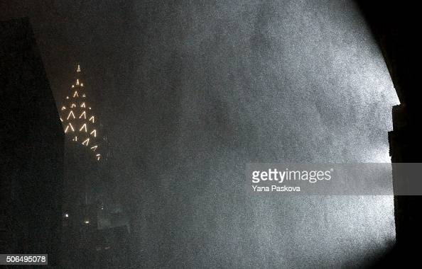 The Chrysler building is seen n January 23 2016 in New York City The Northeast and parts of the South are experiencing heavy snow and ice from a slow...