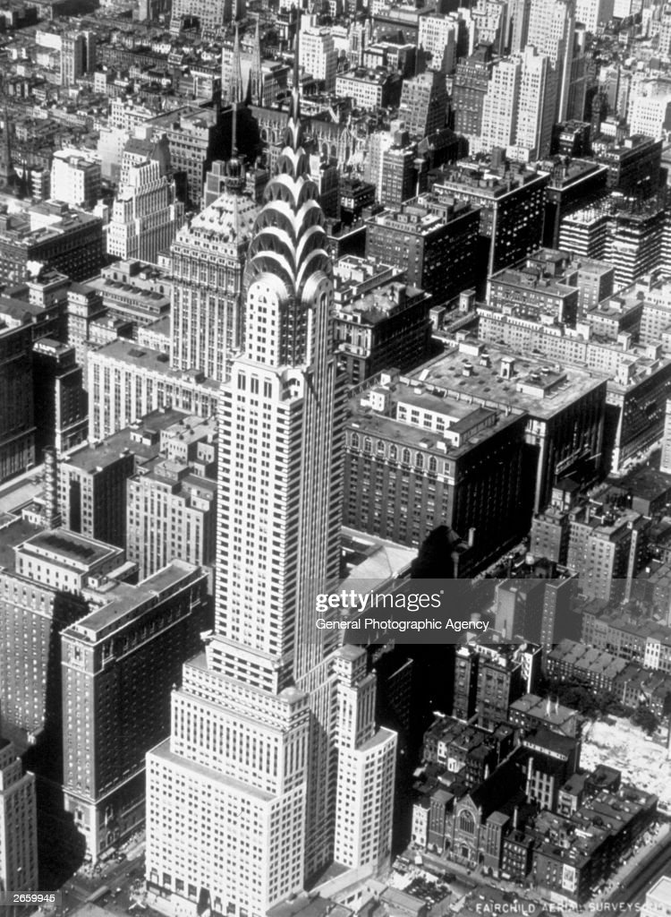 The Chrysler Building, New York, designed by William Van Alen and completed in 1930.