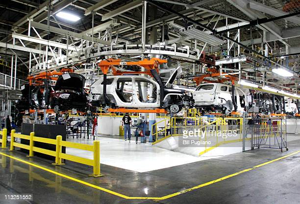 The Chrysler Jefferson North Assembly Plant is shown April 28 2011 in Detroit Michigan To coincide with US Secretary of Treasury Tim Geithner's visit...