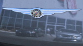 The Chrysler logo is seen on the front of a brand new Chrysler vehicle at a Chrysler dealership on May 2 2011 in Vallejo California Chrysler reported...