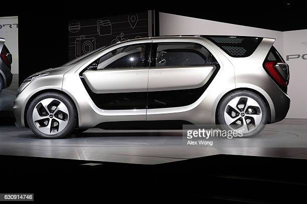 The Chrysler Portal an electricpowered concept minivan focused toward the millennial generation is unveiled during a press event for CES 2017 at the...