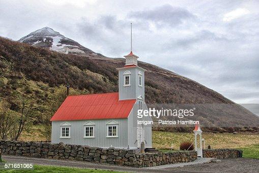 The church at Laufas, Akureyri, Iceland