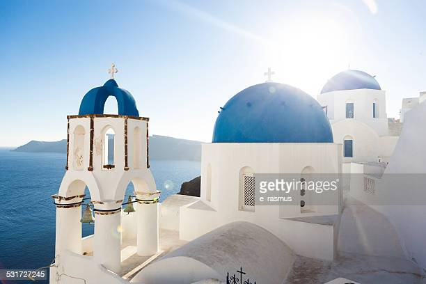 The Church Domes of Santorini