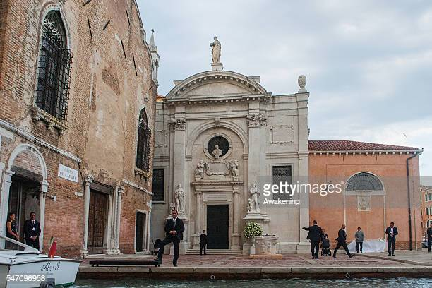 The church is seen during the wedding of Bastian Schweinsteiger and Ana Ivanovic on July 13 2016 in Venice Italy