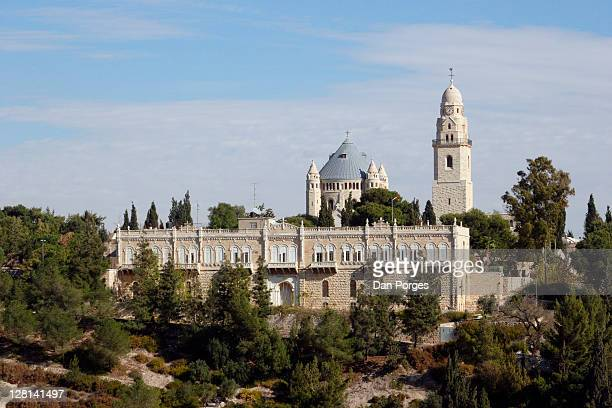 The Church of Dormition on Mount Zion in Jerusalem. Israel. This is where Mary, mother of Jesus, fell asleep (died).