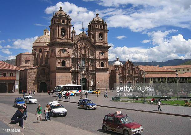 The Church of La Compania on the Plaza de Armas in the main square of the Inca city of Cusco March 15 2005 in Cuzco Peru The historic town of Cusco...