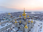 The church of Lavra in Pochaev