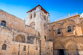 The Church of the Holy Sepulchre also called the Basilica of the Holy Sepulchre in old city Jerusalem, Israel.
