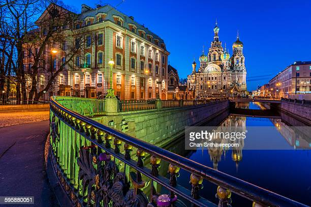 The church of the Savior on Spilled Blood, Russia