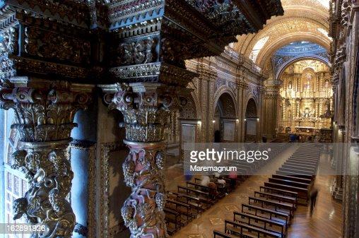 The Church of the Society of Jesus, the interior : Foto de stock