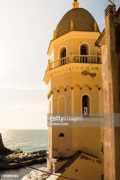 The church of Vernazza. Cinque Terre, La Spezia, Liguria