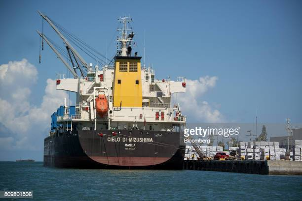 The Cielo Di Mizushima bulk carrier ship sits docked at Port Canaveral in Cape Canaveral Florida US on Wednesday July 5 2017 The US Census Bureau...