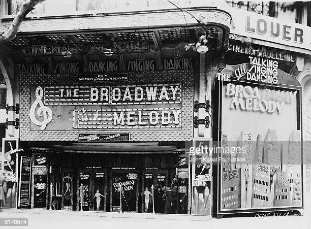 The Cinema Madeleine in France showing the original 'The Broadway Melody' musical directed by Harry Beaumont The film won the Academy Award for Best...