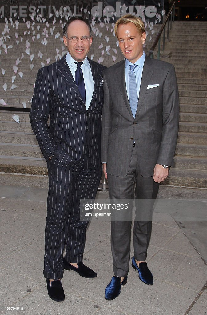 The Cinema Society Founder <a gi-track='captionPersonalityLinkClicked' href=/galleries/search?phrase=Andrew+Saffir&family=editorial&specificpeople=570091 ng-click='$event.stopPropagation()'>Andrew Saffir</a> (L) and <a gi-track='captionPersonalityLinkClicked' href=/galleries/search?phrase=Daniel+Benedict&family=editorial&specificpeople=561391 ng-click='$event.stopPropagation()'>Daniel Benedict</a> attends the Vanity Fair Party during the 2013 Tribeca Film Festival at the State Supreme Courthouse on April 16, 2013 in New York City.