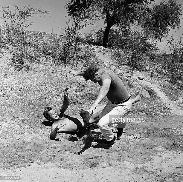 TARZAN 'The Circus' Episode 28 Pictured Ron Ely as Tarzan Leo Gordon as Bull Thomas