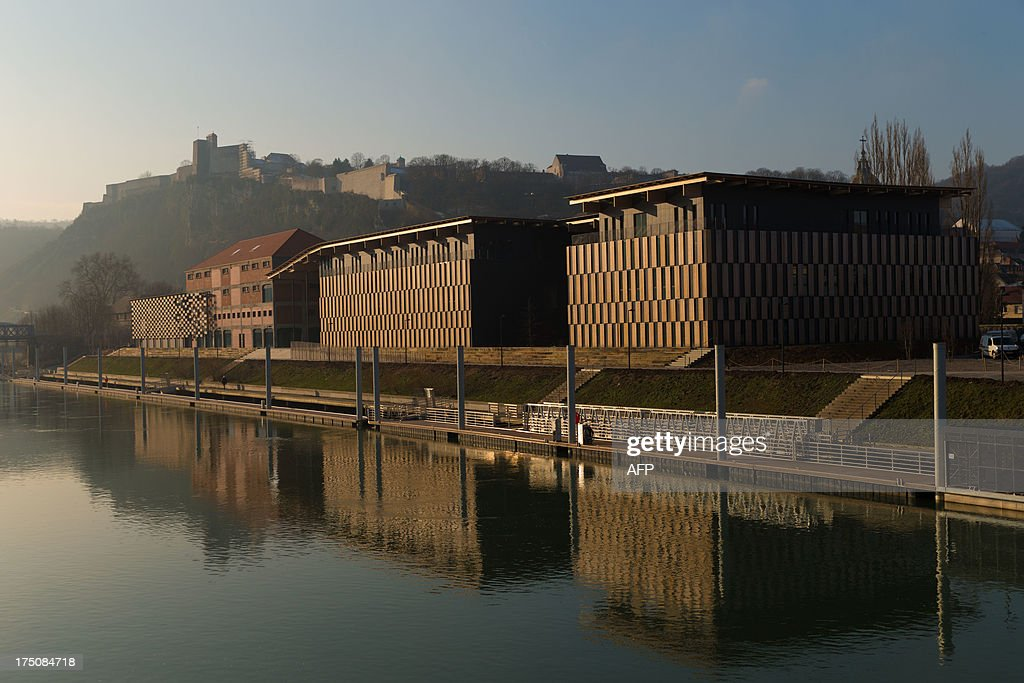 The Cite des Arts and the Doubs river are pictured on February 20 2013 in Besancon eastern France AFP PHOTO / PATRICE COPPEE