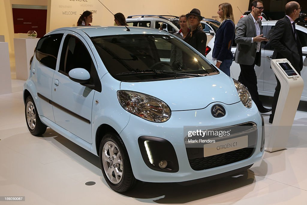 The Citroen C1 is displayed at the 91st edition of the European Motor Show at Brussels Expo on January 10, 2013 in Brussels, Belgium.