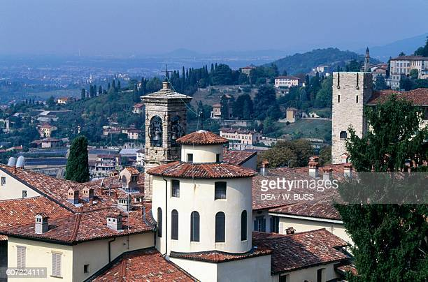The Citta Alta from Palazzo della Ragione Bergamo Lombardy Italy