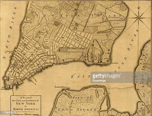 The City and environs of New York New York 1776