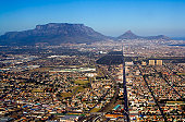 The city of Cape Town, with Table Mountain in the