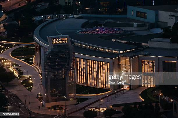 The City of Dreams casino complex operated by Melco Crown Entertainment Ltd stands in Macau China on Tuesday July 26 2016 Casino stocks have rallied...