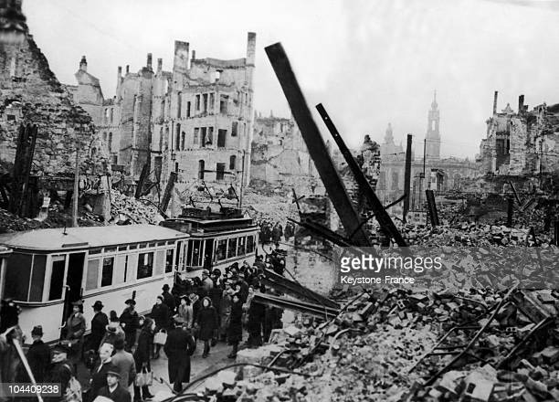 The city of Dresden basically razed to the ground by AngloAmerican bombings in February 1945