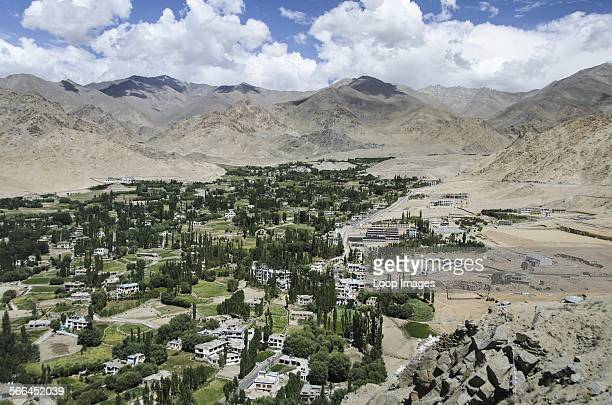 The city of Leh viewed from Leh Palace