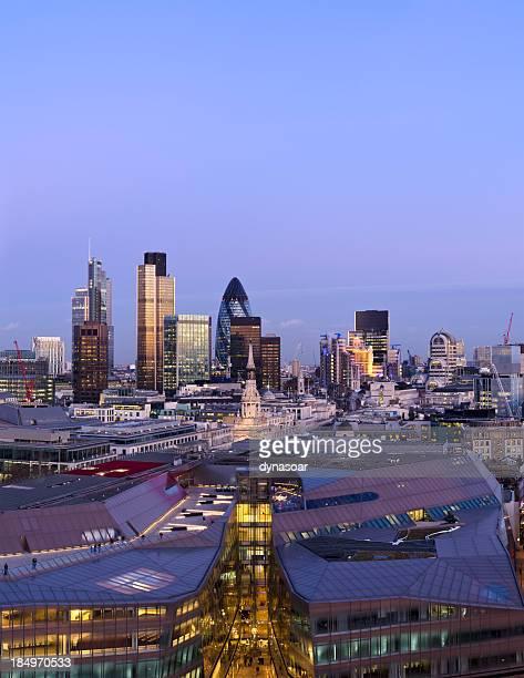 The City of London, dusk
