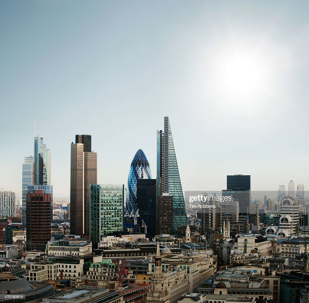 The City of London financial district : Stock Photo
