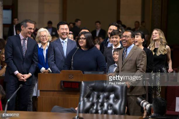 BOAT The City of Los Angeles declared May 2 Fresh Off the Boat Day Los Angeles Mayor Eric Garcetti Council President Herb Wesson Jr and Councilmember...