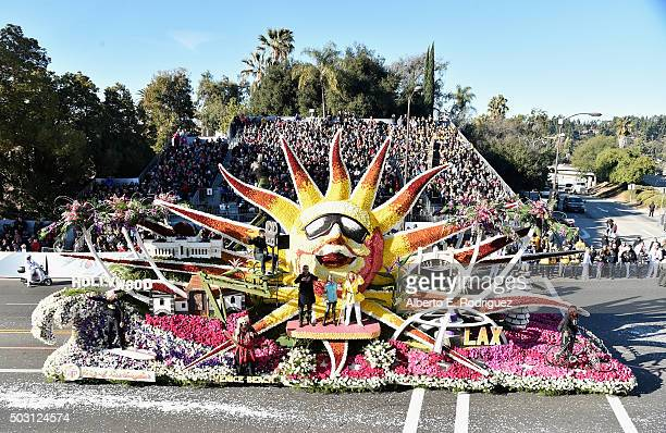The City of Los Angeles float participates in the 127th Tournament of Roses Parade presented by Honda on January 1 2016 in Pasadena California