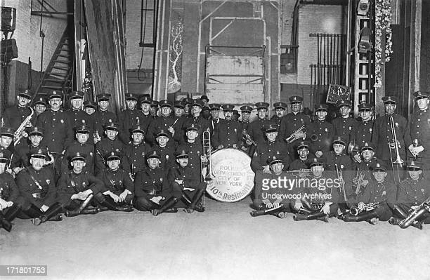 The City of New York Police Department's 10th Regiment band New York New York circa 1919
